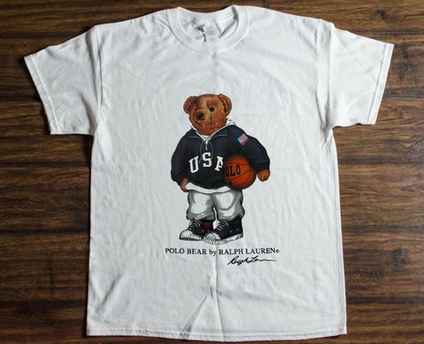 Vintage T-Shirt 90's POLO Bear Basketball Sport Ristampa