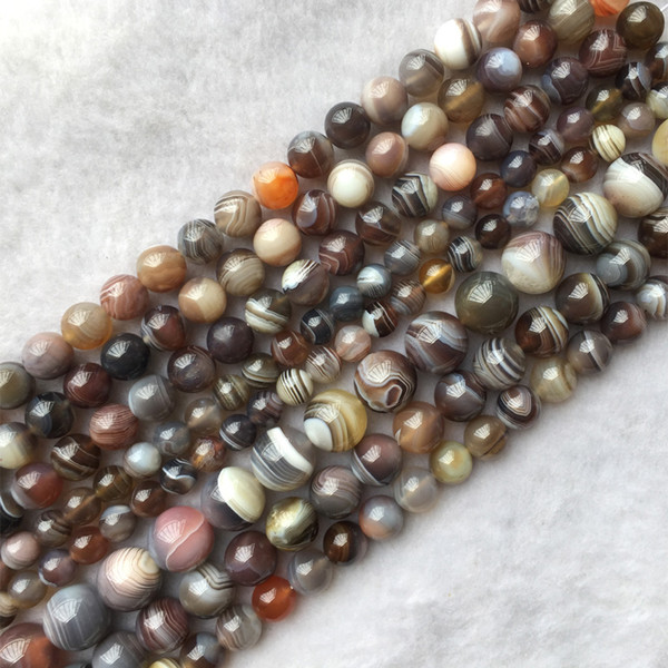 "Genuine Natural Rainbow Multi-Color Lace Eye Botswana Agate Fortification Onyx Semi-precious stones Round Loose Beads 4-18mm 15.5"" 05653"