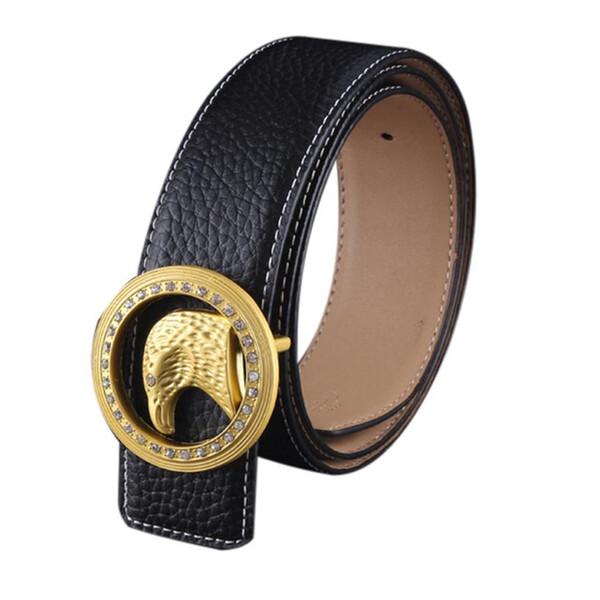 desire #50 Men Automatic Animal head Buckle Leather Waist Strap Belts Buckle Belt