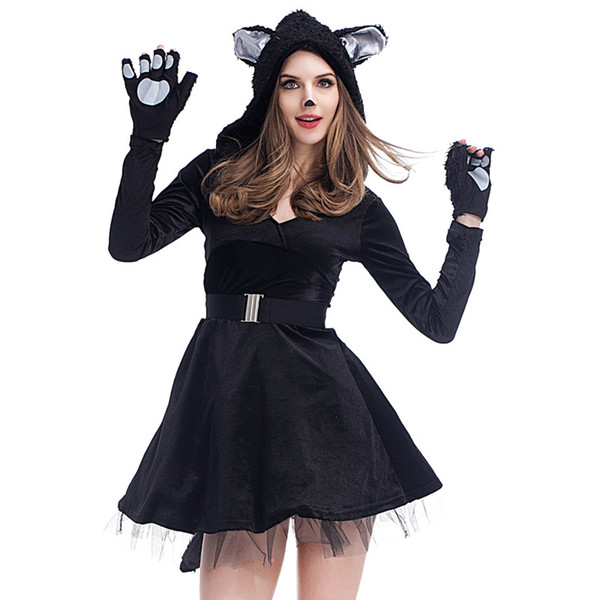 2018 Halloween Costume for Woman Sexy Dog Cosplay Party Dress New Design