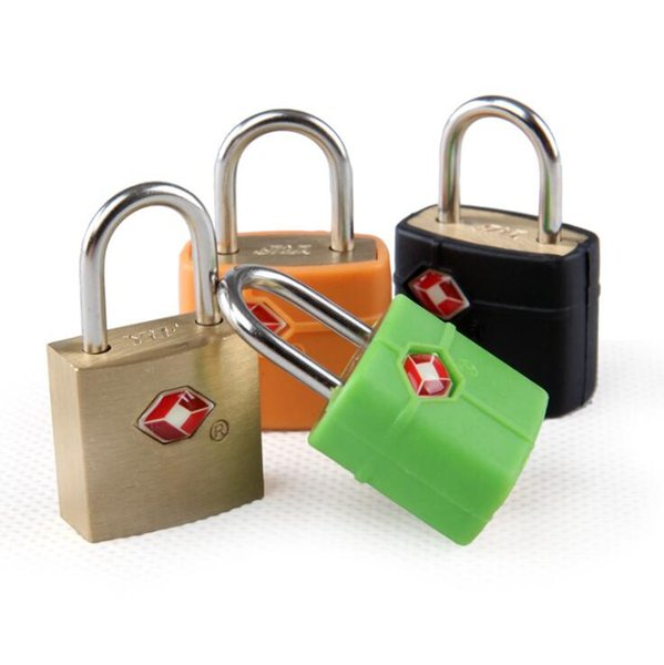 TSA Customs Lock Travel Luggage Suitcase Mini Brass Padlock Travel Lock Door Locks Random Colors OOA5954