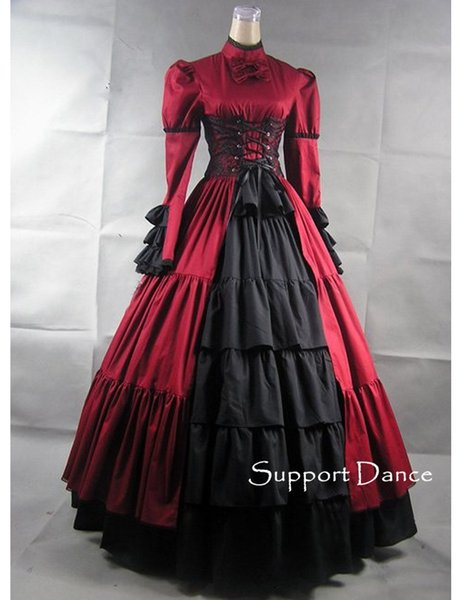 Custom Made Victorians Lace Long Gothic Lolita Dress Plus Size L44