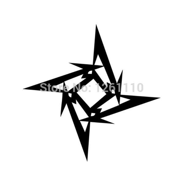 HotMeiNi Wholesale 20pcs/lot Metallica Style Ninja Star JDM Vinyl Sticker decal Computer Laptop Wall SUV Truck Car Window Bumper