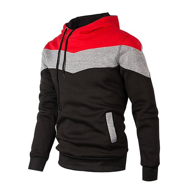 2018 Mens Winter Jacket Wind Breaker Zipper Hoodies 9 Colors Leisure Track Coat XS Online Cheap