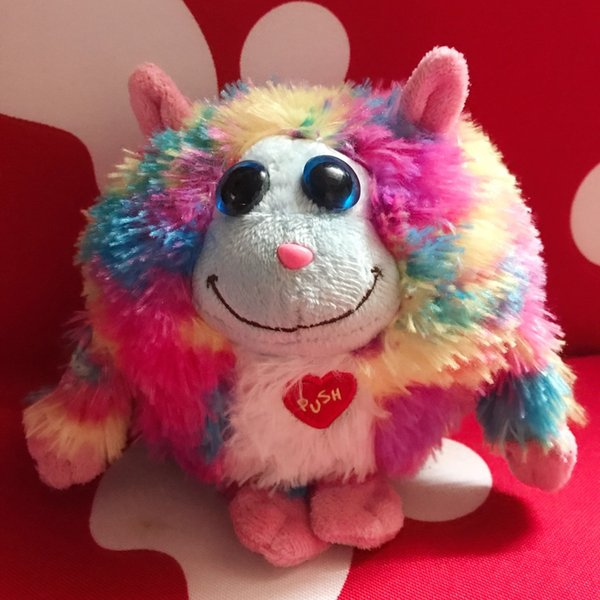 2018 European and American Plush Doll Toy Round Big Eye Ball Cute Turtle Owl Dog Cat Long neck Plush doll