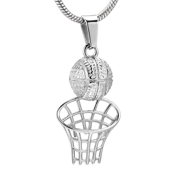Basketball Urn Pendant 316L Stainless Steel Women Men Sport Shooting Keepsake Cremation Jewelry IJD10522
