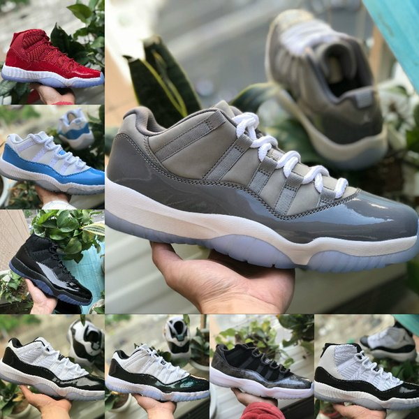 2018 New 11 Prom Night Cap and Gown Gym Red Black White Cool Grey Midnight Navy Concord basketball Shoes 11s Mens Womens trainers Sneakers
