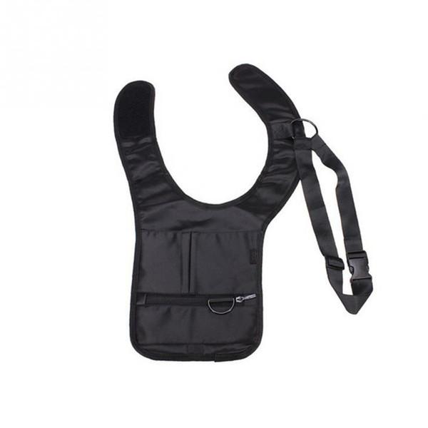 Fasdhion portatile unisex antifurto nascosto sotto le ascelle sicurezza nascosta borsa a tracolla nascosta borsa da tasca soldi borsa nera