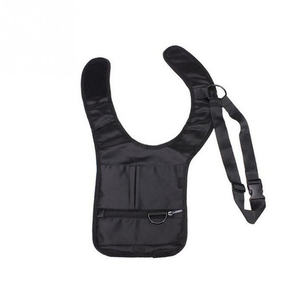 fasdhion Portable Unisex Anti-Theft Hidden Underarm Travel Safety Hidden Shoulder bag phone money bag Holster Black