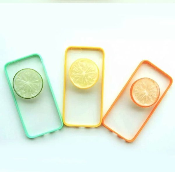 New Cute 3D Lemon Fruit Pattern Back Cover 360 Protective Cell Phone Case with Strap Sling for Iphone5 Iphone6 Iphone6plus
