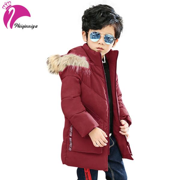 9d2562d3a 2018 Weiqinniya Boys Down Parka Jackets Winter Jacket For Boy ...