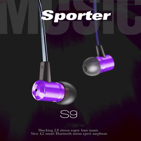 Sport Bluetooth Headphones Stereo Headset Wireless Cell Phone Earphones Portable Earbuds With Retail Box DHL free Shipping