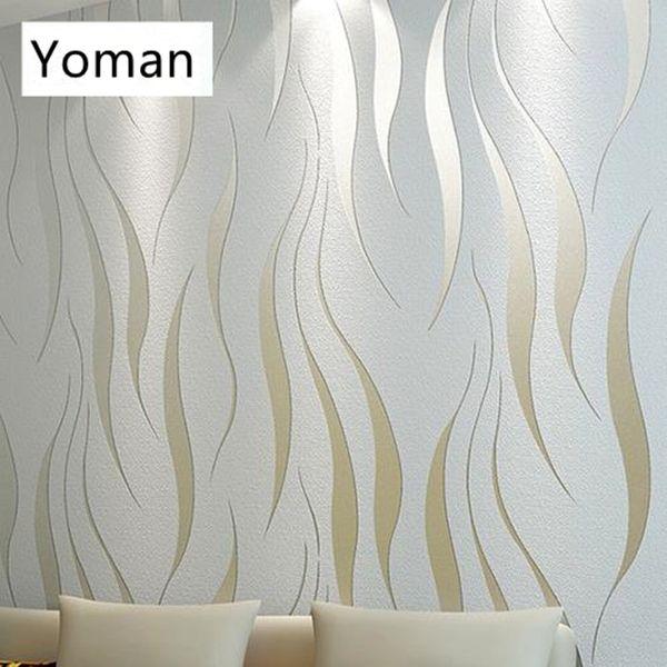 Großhandel Graue Moderne Abstrakte Silber Striped 3D Wallpapers Rollen  Präge Muster Beige Tapeten Für Wohnzimmer Home Decor Schlafzimmer Von ...