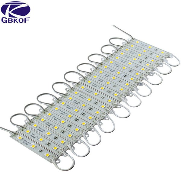 LED Module 5050 3 LED DC12V Waterproof Advertisement Design LED Modules Super Bright Lighting 10PCS/Lot