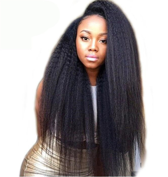 100% Unprocessed Peruvian Human Hair Full Lace Wigs Lace Front Wigs Yaki Straight Brazilian Malaysian Virgin Human Hair Wig With Baby Hair