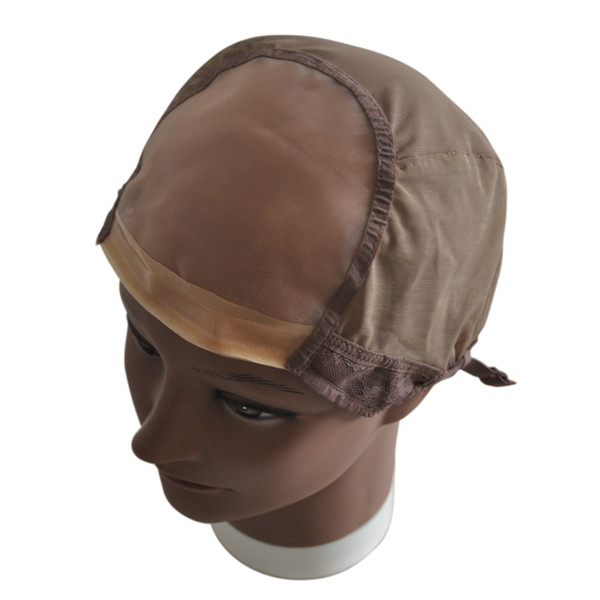 Mono Net Wig Cap For Making Wigs Weaving Cap With Adjustable Strap And Front Ultra Skin System Edge Stretch Fishnet Mesh Wig Cap