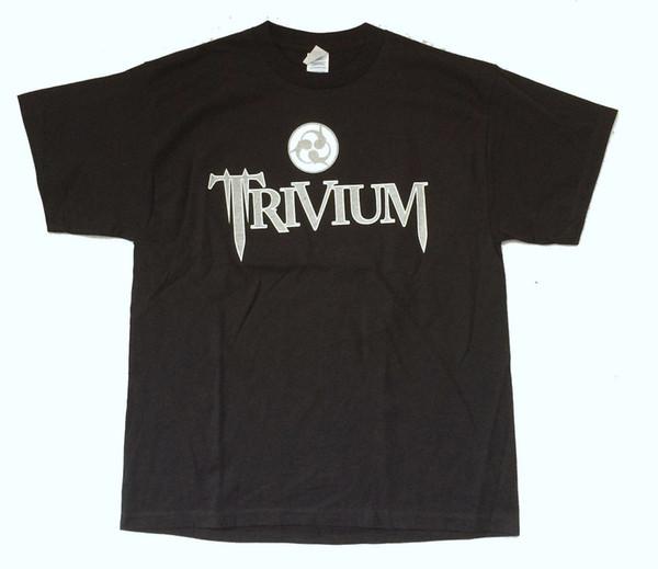 Trivium Gümüş Logo Haçlı 2007 N.A. Yaz Tur Siyah T Gömlek Yeni Resmi Yaz Tarzı Erkek T-Shirt Çin Tarzı