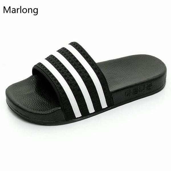 Marlong Marca Home Slippers Mujeres Chanclas de verano sandalias Femmes zapatos mujer Zapatillas de playa Mujer zapatos más tamaño