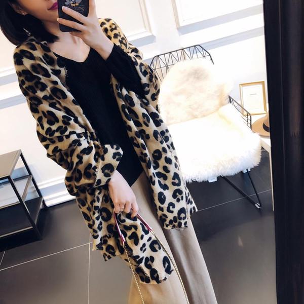 New Hot-Selling Winter Scarf Women Leopard Printing Cashmere Shawl Warm Blanket Scarves Fashion Wraps Female Bufandas Spain Pashmina-1