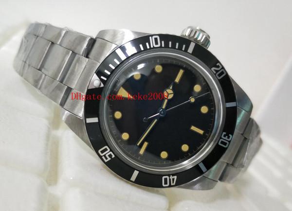 Topselling Moda Saatı Vintage 40mm 5513 Siyah Maxi Dial Paslanmaz Çelik Asya 2813 Hareketi Mekanik Otomatik Mens Watch Saatler