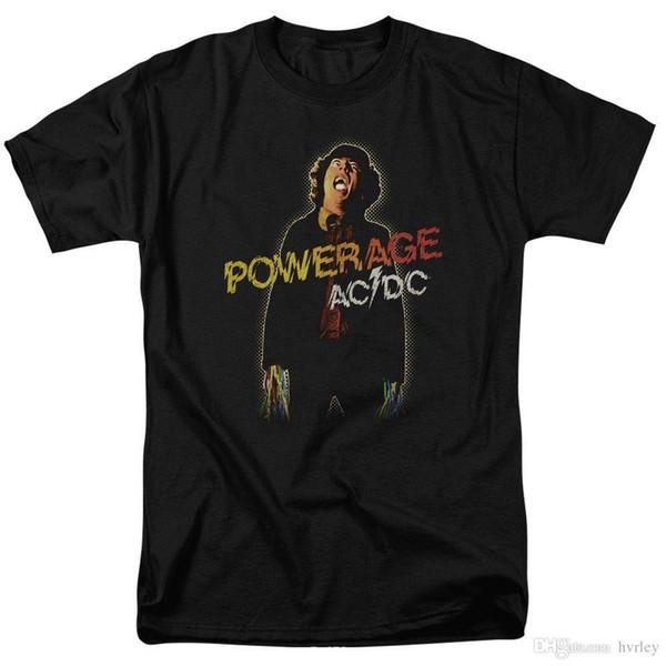 Rock Heavy Metal StyleOfficial AC / DC Netzteil Album Record Abdeckung Symbol Logo T-shirt S bis 5XL top acdc Plus Größe Freizeitkleidung