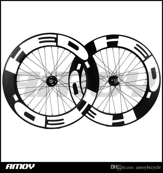 free shipping 25mm width HED paint 88mm Depth fixed gear carbon wheelset full carbon 700C road track bike bicycle wheels