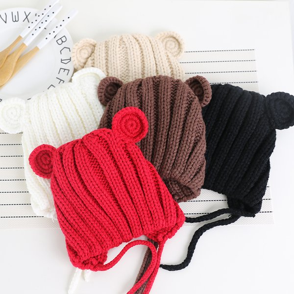 Unisex New Arrival Baby Hat with Ears Girls Cute Hats for Kids 2018 Hot sale Infant Caps Christmas for Girl Winter