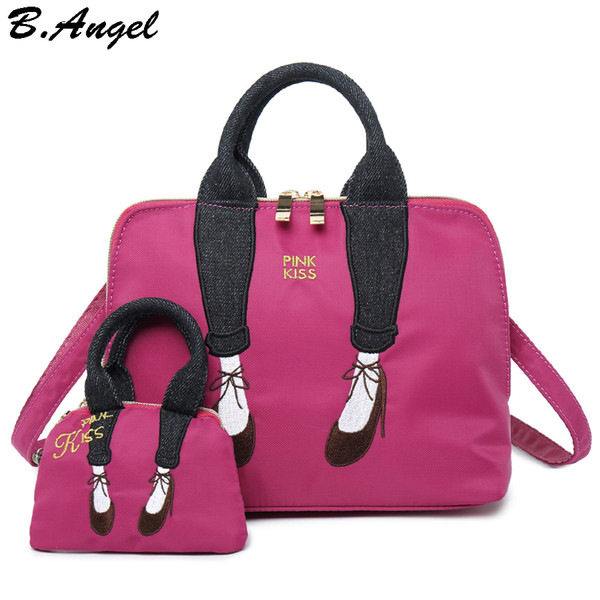 Embroidery Lady Shoulder Bags for Women Girls Cross body Bags for Women Luxury Handbag Women School Bags Designer Oxford Material
