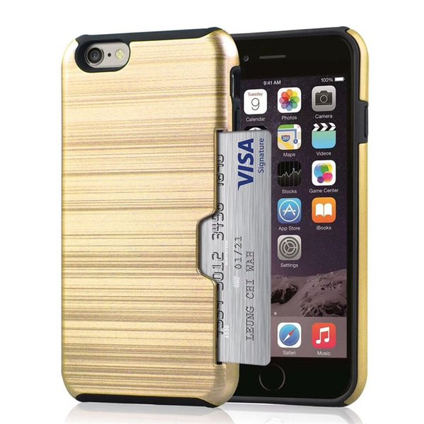 hybrid 2 in 1 Hard Case Shockproof Protection Back Cover Phone Case with card slot for iphone 6 7 8 plus X XS samsung 200pcs