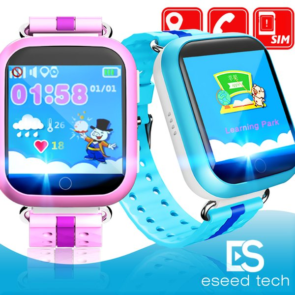 Q750 Kinder Smart Uhr 1,54 Zoll Touchscreen GPS Wifi LBS Monitor SOS Anruf Safe Anti-verlorenen Ort Gerät Tracker für Kind Kind Bady Smart wa