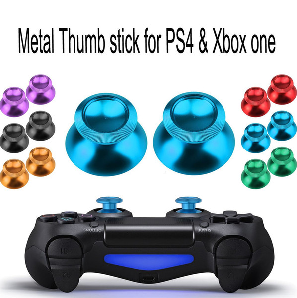 top popular Aluminum Metal Joystick Cap Thumbstick Cover Joystick Caps Button for PS4 XBOX ONE Controller Replacement Parts High Quality FAST SHIP 2021