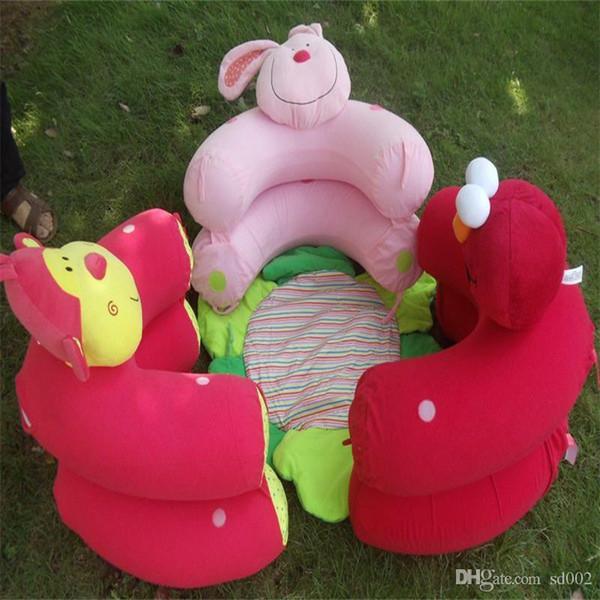 Baby Toy Inflatable Sofa Monkey Rabbit Cartoon Portable Cosy Multi Function Game Mats Blanket Creeping Carpets Creative 28cs bb