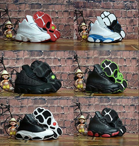 Предложение Дешевые детские кроссовки 13s Детская баскетбольная обувь Big Boy Girl 13s Black Спортивная обувь Спортивные кроссовки Мужские детские роскошные туфли