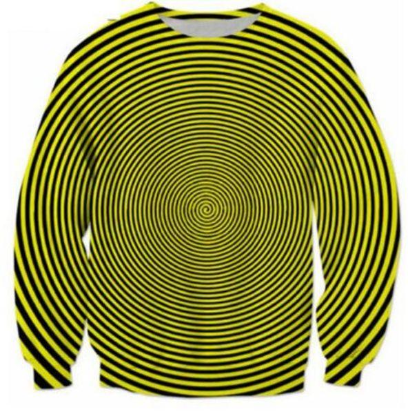 Sondirane Men/Women Psychedelic Stripe 3D Print Sweatshirt Hoodies Long Sleeve Tops Pullover Comfortable Tracksuits Streetwear