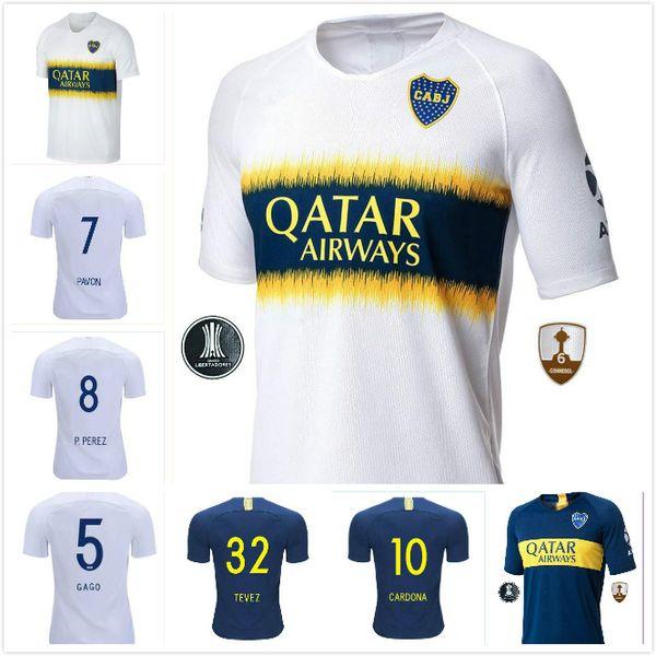 ecd1525c7 2018 2019 Boca Juniors adult Soccer Jerseys PAVON 7 BENEDETTO 9 CARDONA 10  TEVEZ 32 HOME