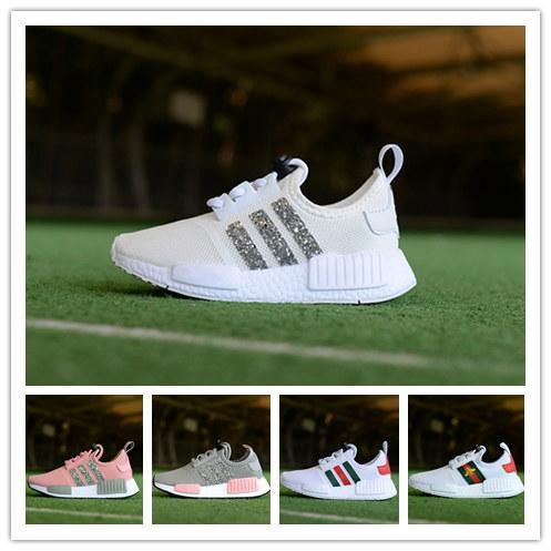 3344d6d888301 New Colors Kids NMD Running Sequins Shoes Baby Children s NMD Runner white Sports  Shoes Boys Girls