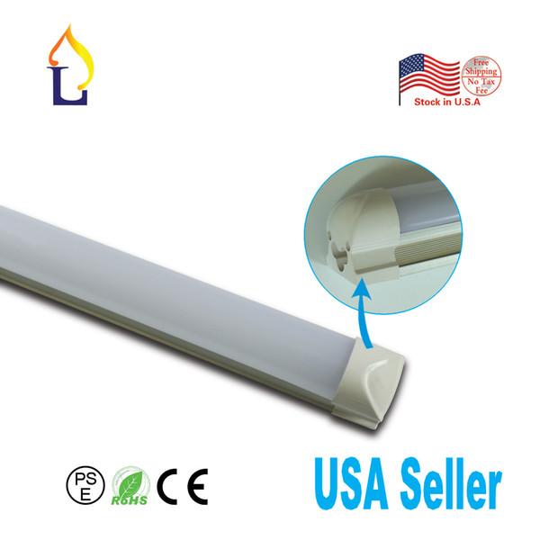 Lager in den USA 1.2m / 1.5m / 2.4m LED T8 integrierte Röhre, die 24W / 26W / 48W mit SMD2835 ledtube 50pcs / lot beleuchtet