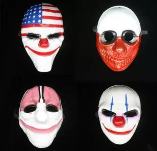 Clown Mask Halloween full face horror Mask for Party Newest Topic Game Series Plastic Old Head Jolly Mask Flag Red Head Masquerade Supplies