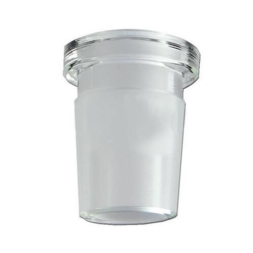 Adaptateur de verre Adaptateur de tuyau de descente Adaptateur en verre réducteur de 14 à 18 mâles Diffuseur de fente de receveur de cendres pour bongs en verre