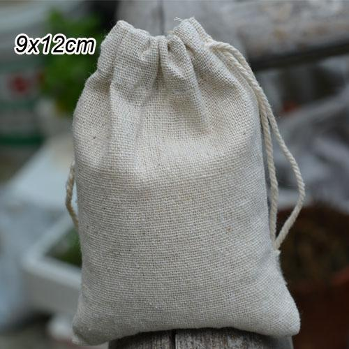 top popular Jewelry Linen Drawstring Bag 9x12cm(3.5x4.75 inch) Baby Shower Birthday Party Candy Packaging Sack Necklace Bracelet Gift Pouch 2020
