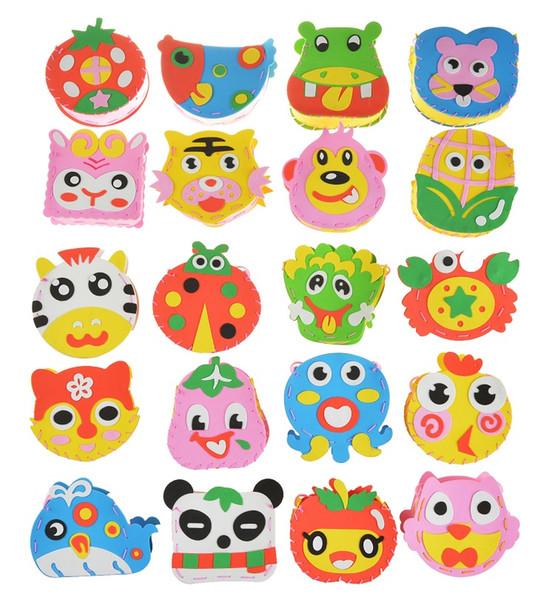 Mochilas Dos Desenhos Animados de Costura EVA DIY Sacos de Artesanato Artesanato Do Bebê Crianças Inteligência Criativa Brinquedos Para Crianças Enigma Brinquedos Educativos