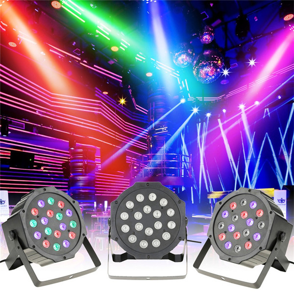 Professional DMX512 Led Par Light High Power 54W 18X3W RGB 4 In 1 Effect Stage Lighting AC 85-265V Auto/Sound Active/Master/Slave