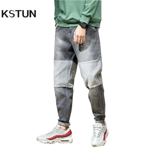 wholesale Jeans Men Japanese Autumn and Winter Hip hop Harem Pants Grey Wide Leg High Quality Brand Patchwork Washed Tapered Homme