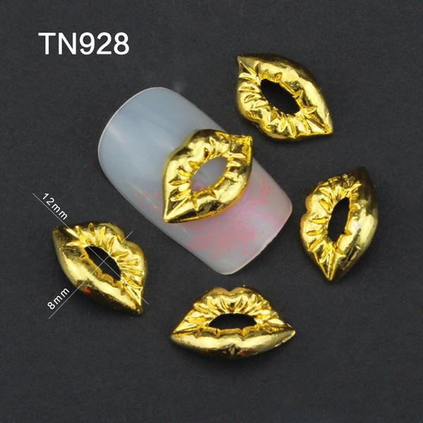 Compre Aleación De Oro Labios Nail Art Decoraciones Para Uñas Encantos Decoración De Uñas 2015 Moda Tn928 A 3492 Del Sophine02 Dhgatecom