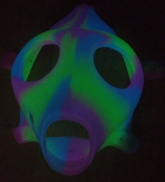 Listing Silicon Mask Luminous Solid Colored Masks Pipe Only Mask Water Pipe Hookah Pipe For Bong Dab Rig