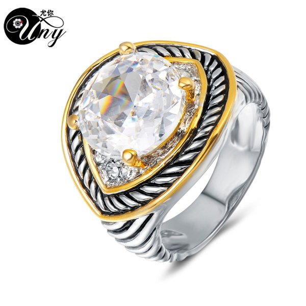 UNY Rings Vintage jewelry Ring Designer Fashion Brand Multi Twisted Cable Wire Rings women Wedding Christmas Valentine Gift Ring