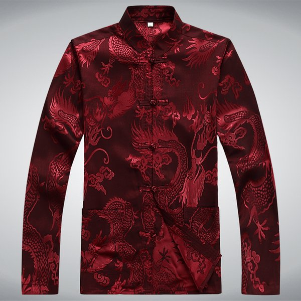 traditional chinese clothing for men long sleeve shirt chinese traditional cotton kung fu clothing tang suit men tops
