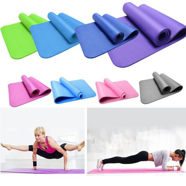 Anfänger rutschfeste Übungs-Fitness-Yogamatte mit Positionslinie 6 mm Dicke