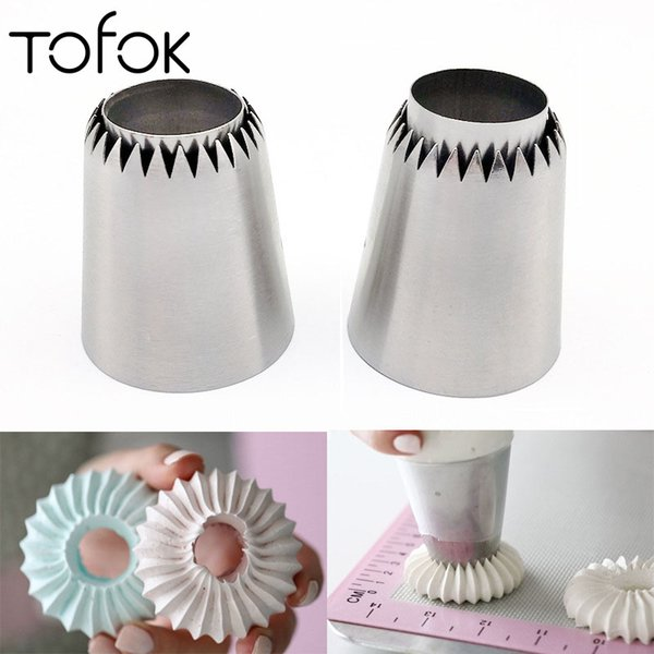 Tofok New Stainless Steel Cake Nozzle Russian Lomia Cookie Icing Nozzle Piping TipDecoration Mouth Cream Pastry Tools Bakeware