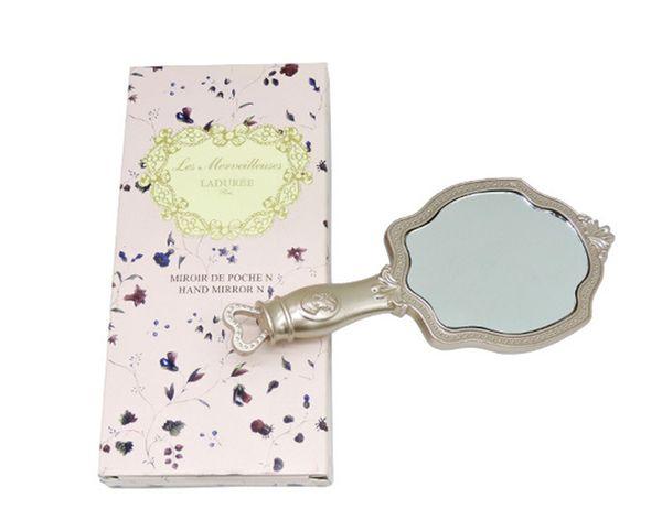 LADUREE Les Merveilleuses HAND MIRROR N cosmetics Espejo de maquillaje Compact Vintage Plastic holder make up pocket mirror